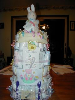 Peter Rabbit Diaper Cake 4TIER Baby Shower Gift