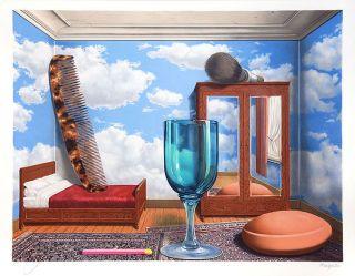 Magritte Rene René Les Valeurs Personelles Personal Values Lithograph