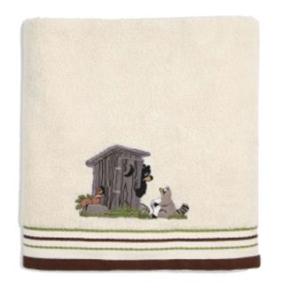Gotta Go Woodland Animals with Outhouse Bathroom Bath Towel