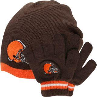 Reebok Cleveland Browns Toddler Beanie Gloves Set Brown