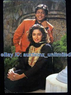 Bollywood Shah Rukh Khan Shahrukh Madhuri Dixit India RARE Post Card