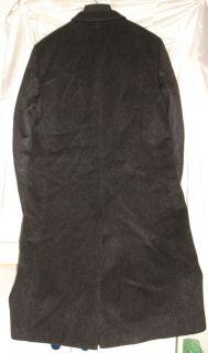 Maitland Overcoat Trench Coat 42 Reg Cashmere Wool Blend Dark Gray