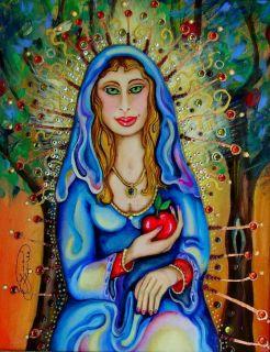 Luree Beautiful Framed Madonna Saint Mary Painting Art