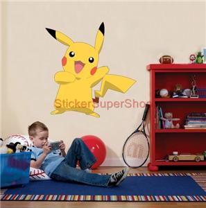 Huge Pikachu Pokemon Decal Removable Wall Sticker Home Decor