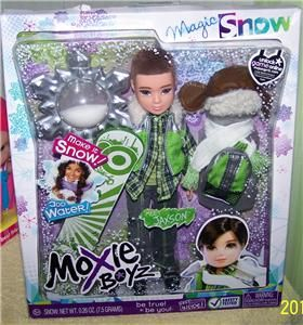 Moxie Boyz Jaxson Magic Snow Doll New