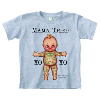 Mama Tried Tattooed Kewpie Baby Doll Andre Dre Perales Boys Girls