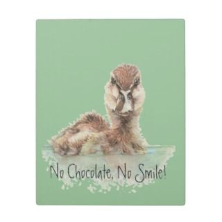 Funny, No Chocolae, No Smile, Angry Duck, Bird Display Plaque