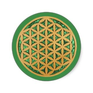 Wood Carving Scroll Saw Art of Flower of Life Sticker