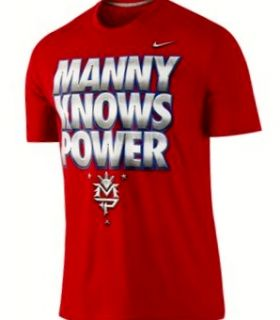 Authentic Nike Manny Pacquiao Manny Knows Power Red T Shirt Sz Medium