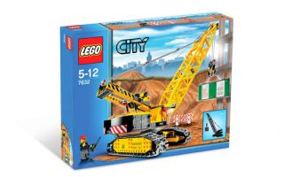Lego Contruction Lot 7632 Crawler Crane 7746 Single Drum Roller