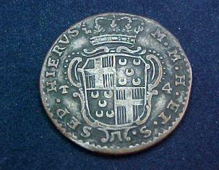 1768 Silver 4 Tari Grand Master Emmanvel Pinto Knights of Malta Order