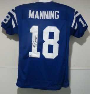 Peyton Manning Autographed Signed Size XL Blue Jersey Indianapolis