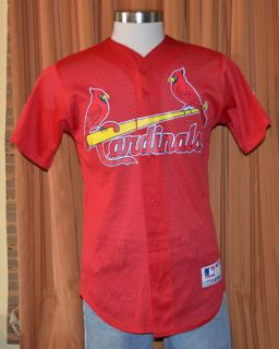 St Louis Cardinals 15 Majestic Athletic Baseball Jersey Shirt Mens