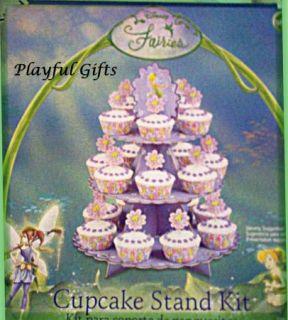Tinkerbell Cupcake Stand w Cupcake Picks Kit Wilton