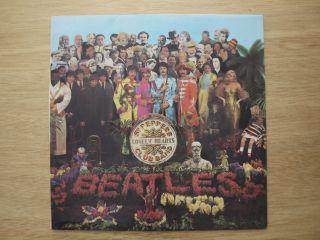 Beatles Sgt Pepper RARE 1st UK Press Mint Stereo Y B Top Audio Wide