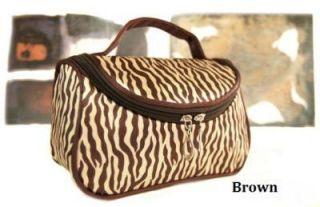 New Zebra Cosmetics Makeup Pocket Pouch Ladies Women Purse Beauty Bag