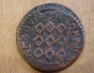 1776 Copper 1 Grano Coin Emmanvel de Rohan Knights Malta Cross Order