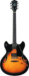HB30TSK HOLLOWBODY ELECTRIC GUITAR WITH TOBACCO SUNBURST FINISH NEW