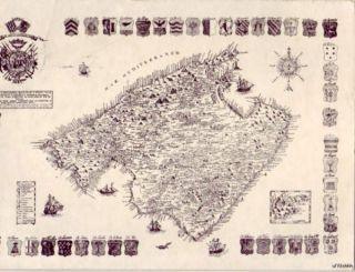 Mapa Antiguo de Mallorca Majorca Map Spain