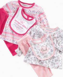 First Impressions Baby Set, Baby Girls 3 Piece Bodysuit and Pant Set
