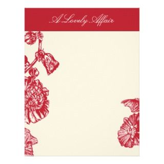 Lovely Affair Vintage French Flower Letterhead