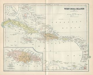 Antique Map of the West Indies