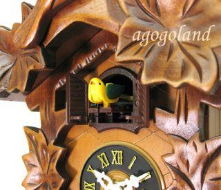 New Hand Carve Quartz Bird Maples Wooden Cuckoo Clock