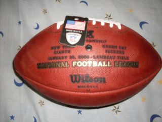 """Wilson Official NFL Leather Game Ball Football """"The Duke"""" F1100"""