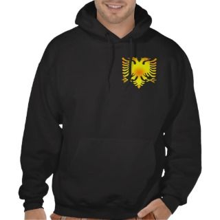 Albanian Golden Eagle Flag Hooded Sweatshirts