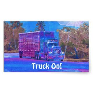 Livestock Truck Big Rig Driver Sticker Series