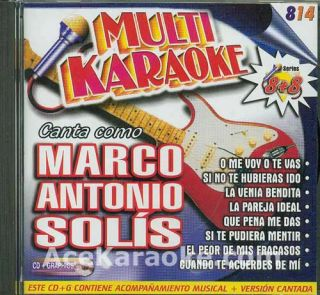 Multi Karaoke 0814 CDG Canta Como Marco Antonio Solis