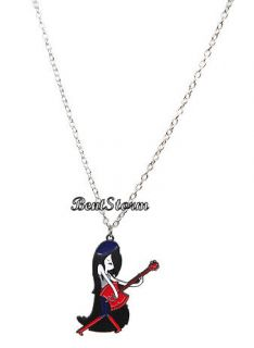 New Adventure Time with Finn and Jake Marceline Axe Guitar Necklace