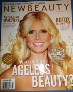 New Beauty Winter 2008 Heidi Klum Angelina Jolie Gisele Bundchen