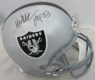 Marcus Allen Oakland Raiders Autographed Helmet w HOF