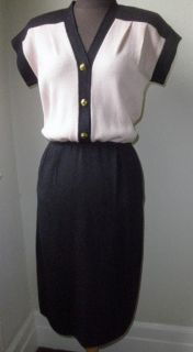 Vintage St John for  Classic Chic Color Block Knit Dress