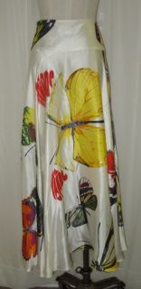 Georgette White Yellow Red Gray Silk Satin Butterfly