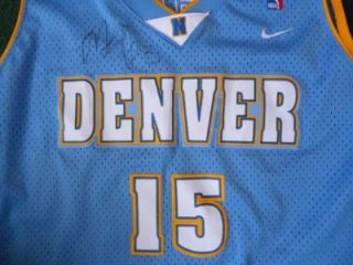Marcus Camby & Carmelo Anthony Signed Nike Ball and XL Jersey Denver