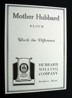 Mother Hubbard Milling Co Flour Mankato MN Print Ad