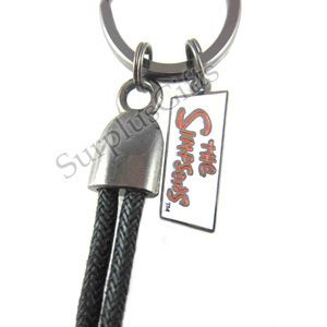 The Simpsons rope key ring features Marge Simpsons. The Marge Simpson