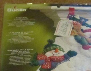 Plaid Bucilla Snow Fun Felt Stocking Kit 18 New in Package 86108 2008