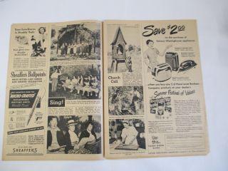 Original Sunday News August 1949 Marilyn Monroe Cover
