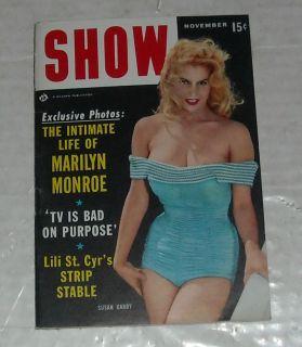 Show Digest Mens Magazine Pin UPS Marilyn Monroe Lili St Cyr