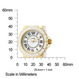 Line Watch 20009 Womens Marina White Dial Gold Tone IP Case White