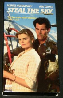 STEAL THE SKY VHS, HBO 1988   Mariel Hemingway, Ben Cross, & Sasson