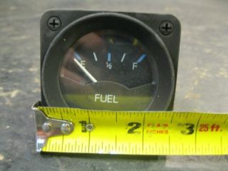 Used Marine Boat Small Fuel Level Gauge Black Face Dash