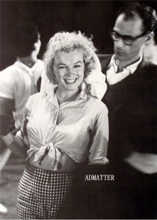Marilyn Monroe Arthur Miller Pin Up Photo Showing Belly