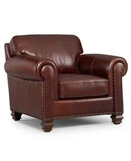 Lauren Ralph Lauren Leather Living Room Chair, Stanmore