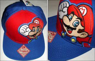 Nintendo Super Mario Bros Mario Snapback Baseball Cap