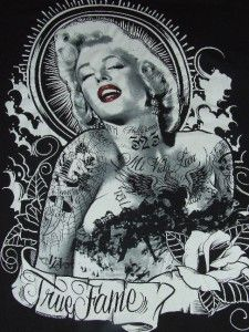 BERNARD OF HOLLYWOOD MARILYN MONROE COOL GRAPHIC T SHIRT XL NEW