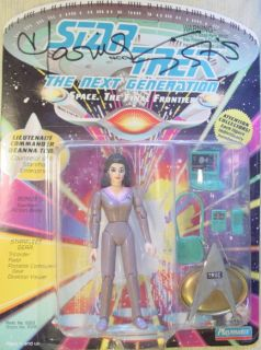 Star Trek Playmates 6016 Sirtis Troi Signed Autograph Original Series